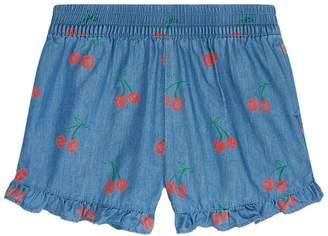 Stella McCartney Cherry Print Ruffle Shorts