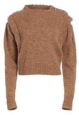 Etoile Isabel Marant Women's Meery Scalloped-Neck Wool Sweater