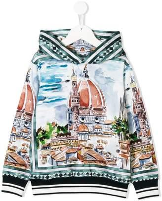 Dolce & Gabbana long-sleeve printed hoodie