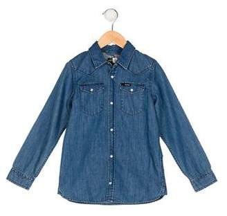 Molo Boys' Star Chambray Shirt