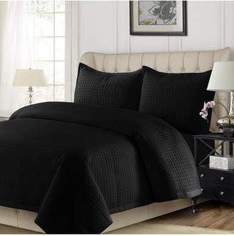 Tribeca Living Como Microfiber Solid Oversized Twin Quilt Set