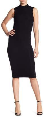 ATM Anthony Thomas Melillo Ribbed Knit Mock Neck Dress