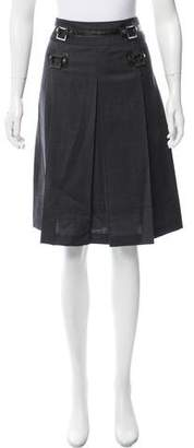 Tory Burch Pleated Wool Skirt