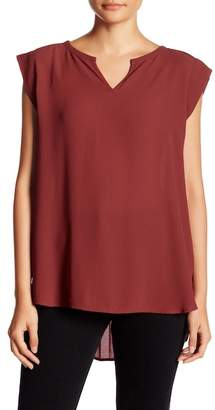 Pleione Split Neck Blouse $64 thestylecure.com