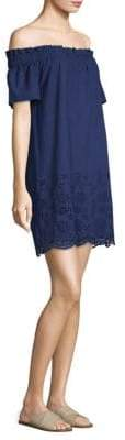 Vineyard Vines Eyelet Off-The-Shoulder Dress