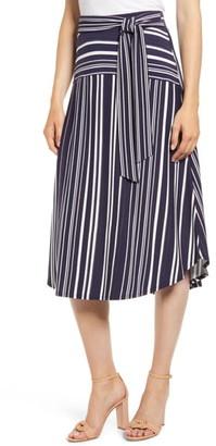 Tommy Bahama Anoche Stripe Tie Waist Skirt