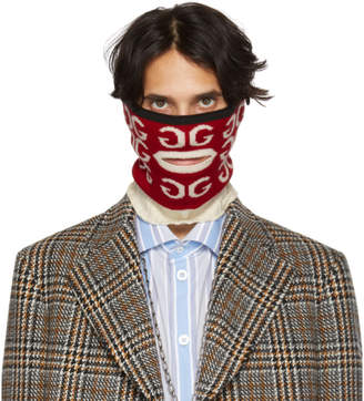 Gucci Red and White Mouth Opening Neck Warmer