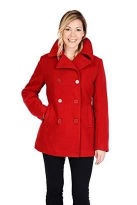 Excelled Women's Plus Size Classic Pea Coat,2