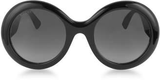 Gucci GG0101S Acetate Round Women's Sunglasses w/Glitter Temples