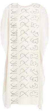 Akris Leporello Printed Silk Crepe Shift Dress