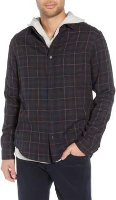Vince Classic Fit Plaid Double Knit Sport Shirt