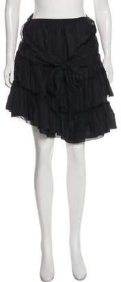 L'Agence Mini Ruffle Skirt