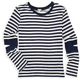 Splendid Girl's Stripe Cut Out Knit Top