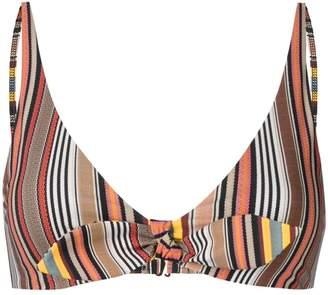 Tory Burch striped bikini top