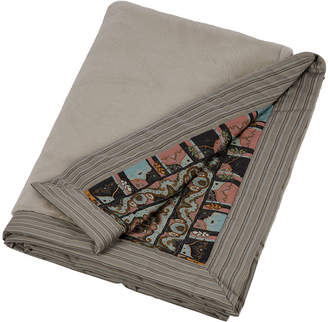 Etro Dubouche Reversible Faux Fur Throw - Grey