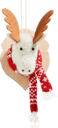 Holiday Lane Moose Head with Scarf Ornament