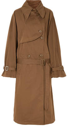 MM6 MAISON MARGIELA Oversized Cotton-gabardine Trench Coat - Brown
