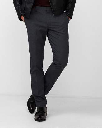 Express Extra Slim Navy Houndstooth Dress Pant