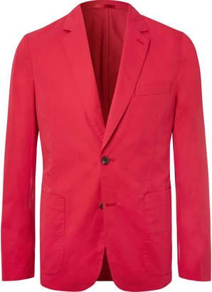 Paul Smith Sky-Blue Soho Slim-Fit Unstructured Cotton Blazer
