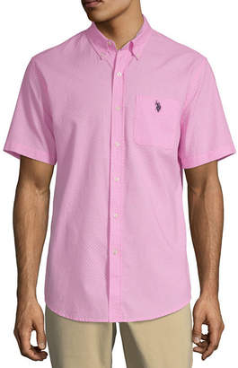 U.S. Polo Assn. USPA Mens Short Sleeve Button-Front Shirt