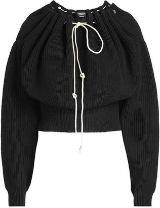 Calvin Klein Off-Shoulder Knit Pullover