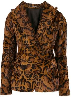 Tagliatore leopard print blazer