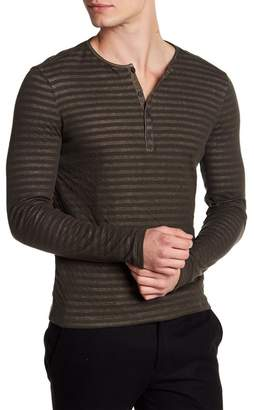 John Varvatos Long Sleeve Woven Henley