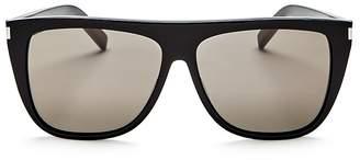 Saint Laurent Men's Flat Top Square Sunglasses, 59mm