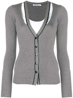 Alexander Wang ribbed cut-out cardigan