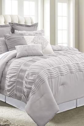 Amrapur Embellished King Comforter - 8 Piece Set - Purple