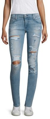 True Religion Stella Low-Rise Skinny Jeans $229 thestylecure.com