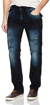 True Religion Men's Geno Slim Straight Jeans with Back Flap Pockets2 Pants