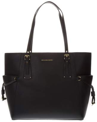 MICHAEL Michael Kors Voyager Black Leather Tote Bag