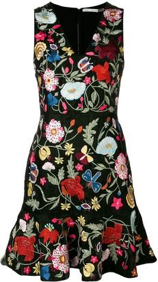 Alice + Olivia Alice+Olivia floral-embroidered dress