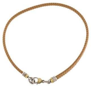 Judith Ripka Diamond Leather Choker
