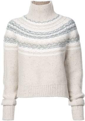Vince fair isle knitted jumper