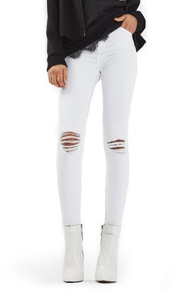 Women's Topshop Jamie Ripped Skinny Jeans $75 thestylecure.com