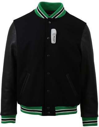 Palm Angels Black Varsity Bomber Jacket