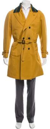 Burberry Double-Breasted Woven Trench Coat w/ Tags Double-Breasted Woven Trench Coat w/ Tags