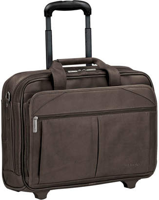 JCPenney Solo SOLO Leather CheckFast Rolling Laptop Case