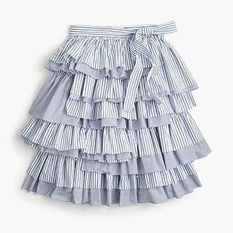 J.Crew Collection tiered ruffle skirt with tie waist