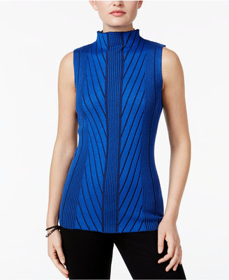 Joseph A Mock-Neck Ribbed-Knit Sweater $50 thestylecure.com