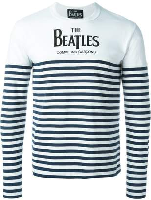 Comme des Garcons The Beatles X striped longsleeved T-shirt