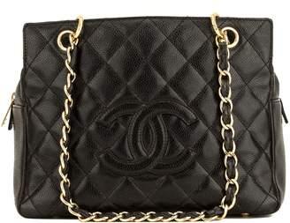 Chanel Caviar Black PST Petite Tote Leather Handbag (4078008)