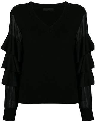Frankie Morello ruffled sleeves blouse