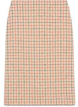Gucci Vintage overcheck pencil skirt