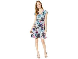 Adrianna Papell Mystic Floral Fit and Flare Dress