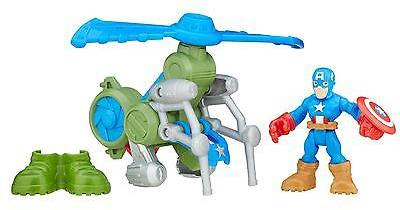 Marvel Playskool Heroes Super Hero Adventures Jungle Copter Captain America