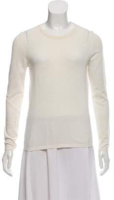 Burberry Eyelet-Accented Long Sleeve Sweater