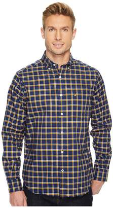Nautica Long Sleeve Large Plaid Shirt Men's Long Sleeve Button Up